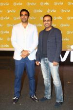 Zaheer Khan, Virender Sehwag at VIU streaming launch on 3rd March 2016