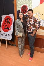 designer azeem khan with wife at Tatami restaurant launch hosted by Neha Premji and Shivam Hingorani on 3rd March 2016