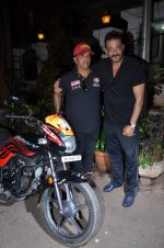 Sanjay Dutt snapped with the tatoo unique fan on 5th March 2016