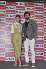 Alia Bhatt and Fawad Khan at Filmfare cover launch on 7th March 2016