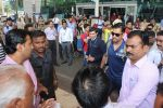 Mahendra Singh Dhoni snapped at airport on 11th March 2016