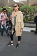Neha Dhupia snapped at airport on 11th March 2016