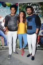 Alia Bhatt, Sidharth Malhotra, Fawad Khan at Kapoor N Sons promotions in Mumbai on 13th March 2016