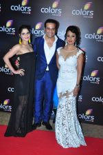 Kashmira Shah, Krishna Abhishek at Colors red carpet on 12th March 2016