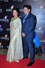 Madhuri Dixit at Colors red carpet on 12th March 2016