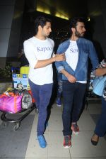 Sidharth Malhotra and Fawad Khan promote Kapoor N Sons after they return from Bangalore on 12th March 2016