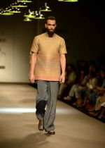 Model walk the ramp for Akaaro by Gaurav Jai gupta Show at AIFW Day 1 on 16th March 2016