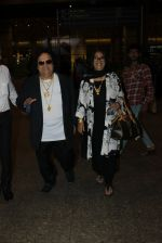 Bappi Lahiri snapped at airport on 19th March 2016