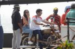 Shraddha Kapoor and Aditya Roy Kapoor snapped on location of their film on streets of Mumbai on 19th March 2016