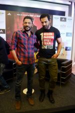 John Abraham, Nishikant Kamat promote Rocky Handsome in Delhi on 21st March 2016