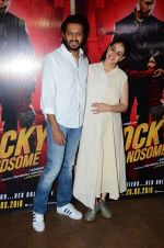 Genelia D Souza, Riteish Deshmukh at Rocky Handsome screening in Mumbai on 23rd March 2016