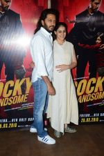 Genelia D Souza, Riteish Deshmukh at Rocky Handsome screening in Mumbai on 23rd March 2016 (32)_56f393f0be7a0.JPG