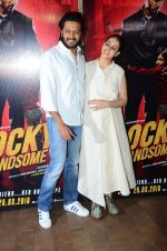 Genelia D Souza, Riteish Deshmukh at Rocky Handsome screening in Mumbai on 23rd March 2016 (33)_56f393f216d06.JPG