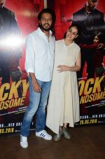 Genelia D Souza, Riteish Deshmukh at Rocky Handsome screening in Mumbai on 23rd March 2016 (35)_56f393f314ffd.JPG
