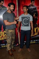 John Abraham at Rocky Handsome screening in Mumbai on 23rd March 2016