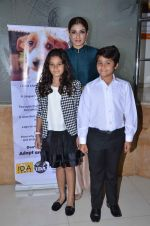 Raveena Tandon with her kids Ranbirvardhan and Rasha as they are announced as brand ambassadors of ngo on 23rd March 2016