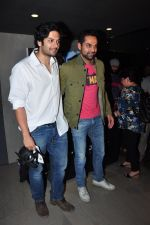 Ali Fazal, Abhay Deol at Batman vs spiderman screening on 24th March 2016