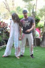 Jacqueline Fernandez snapped with sooraj pancholi at Holi Celebration on 24th March 2016