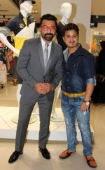 Ajaz Khan & Sheehan Dixit (Madhuri Dixit_s nephew) at the launch of Reliance Trends Store at infinity 2, Malad, Mumbai._56f69c09cc752.jpg