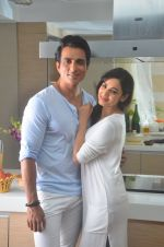 Sonu Sood and Sonal Chauhan during the ad shoot of Texmo Pipe Fittings in Mumbai on March 26, 2016 (21)_56f7d1416b73c.JPG
