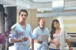 Sonu Sood and Sonal Chauhan during the ad shoot of Texmo Pipe Fittings in Mumbai on March 26, 2016