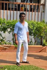 Sonu Sood during the ad shoot of Texmo Pipe Fittings in Mumbai on March 26, 2016