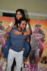 Bhumi Pednekar, Ayushmann Khurrana at Dum Laga Ke Haisha press meet in Mumbai on 29th March 2016 (108)_56fbaf96c732f.JPG