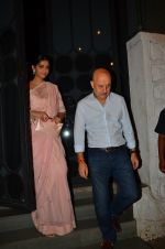 Sonam Kapoor, Anupam Kher snapped at NIDO on 1st April 2016