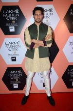 Sidharth Malhotra on Day 4 at Lakme Fashion Week 2016 on 2nd April 2016