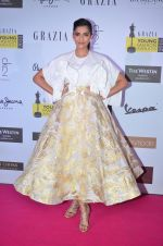 Sonam Kapoor at Grazia Young Fashion Awards 2016 Red Carpet on 7th April 2016