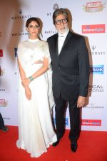 Amitabh Bachchan, Shweta Nanda at Hello Hall of Fame Awards 2016 on 11th April 2016