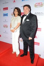 Rishi Kapoor, Neetu Singh at Hello Hall of Fame Awards 2016 on 11th April 2016
