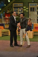 Mohammad Azharuddin, Emraan Hashmi at the promotion of Azhar on location of The Kapil Sharma Show on 22nd April 2016