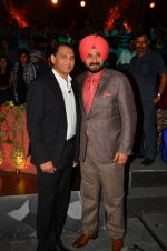 Mohammad Azharuddin, Navjot Singh Sidhu at the promotion of Azhar on location of The Kapil Sharma Show on 22nd April 2016