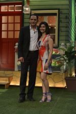 Mohammad Azharuddin, Prachi Desai at the promotion of Azhar on location of The Kapil Sharma Show on 22nd April 2016