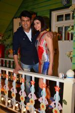 Prachi Desai, Kapil Sharma at the promotion of Azhar on location of The Kapil Sharma Show on 22nd April 2016