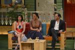 Prachi Desai, Lara Dutta, Mohammad Azharuddin at the promotion of Azhar on location of The Kapil Sharma Show on 22nd April 2016