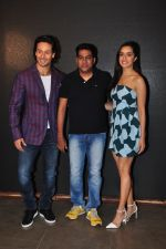 Shraddha Kapoor, Tiger Shroff, Sabbir Khan at Baaghi promotions in Mumbai on 22nd April 2016