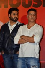 Abhishek Bachchan, Akshay Kumar at the Launch of the song Taang Uthake from the film Housefull 3 on 6th May 2016