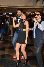Jacqueline Fernandez, Abhishek Bachchan, Mika Singh at the Launch of the song Taang Uthake from the film Housefull 3 on 6th May 2016