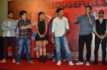 Riteish Deshmukh, Sajid Nadiadwala, Jacqueline Fernandez, Mika Singh, Abhishek Bachchan, Akshay Kumar at the Launch of the song Taang Uthake from the film Housefull 3 on 6th May 2016 (76)_572dfe30533cf.JPG