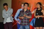 Riteish Deshmukh, Sajid Nadiadwala, Jacqueline Fernandez, Mika Singh, Abhishek Bachchan, Akshay Kumar at the Launch of the song Taang Uthake from the film Housefull 3 on 6th May 2016 (78)_572dfe40f1bf2.JPG