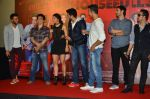 Riteish Deshmukh, Sajid Nadiadwala, Jacqueline Fernandez, Mika Singh, Abhishek Bachchan, Akshay Kumar at the Launch of the song Taang Uthake from the film Housefull 3 on 6th May 2016 (80)_572dfd67f27be.JPG