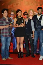 Riteish Deshmukh, Sajid Nadiadwala, Jacqueline Fernandez, Mika Singh, Abhishek Bachchan, Akshay Kumar at the Launch of the song Taang Uthake from the film Housefull 3 on 6th May 2016 (96)_572dfe316eda6.JPG
