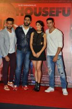 Riteish Deshmukh, Jacqueline Fernandez, Abhishek Bachchan, Akshay Kumar at the Launch of the song Taang Uthake from the film Housefull 3 on 6th May 2016
