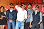 Riteish Deshmukh, Sajid Nadiadwala, Jacqueline Fernandez, Mika Singh, Abhishek Bachchan, Akshay Kumar at the Launch of the song Taang Uthake from the film Housefull 3 on 6th May 2016