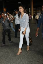 Amy Jackson snapped as she returns from Chennai on 8th May 2016