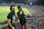 Emraan hashmi and nargis fakhri at Azhar promotions in association with Gourmet Renaissance at IPL match in Pune on 9th May 2016