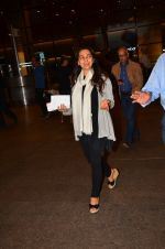 Juhi Chawla snapped at airport in Mumbai on 10th May 2016