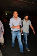 Mohammad Azharuddin snapped at airport in Mumbai on 10th May 2016